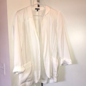 Small Express white full length blazer
